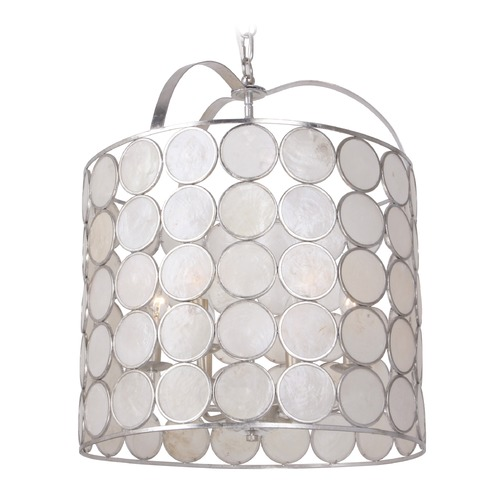 Crystorama Lighting Crystorama Lighting Coco Antique Silver Pendant Light 6007-SA