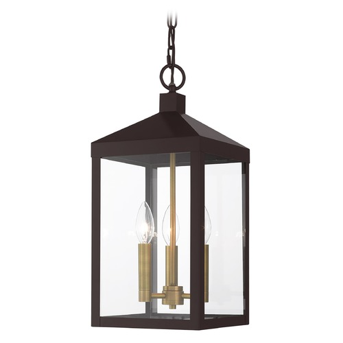 Livex Lighting Livex Lighting Outdoor Hanging Light in Bronze with Antique Brass 20593-07