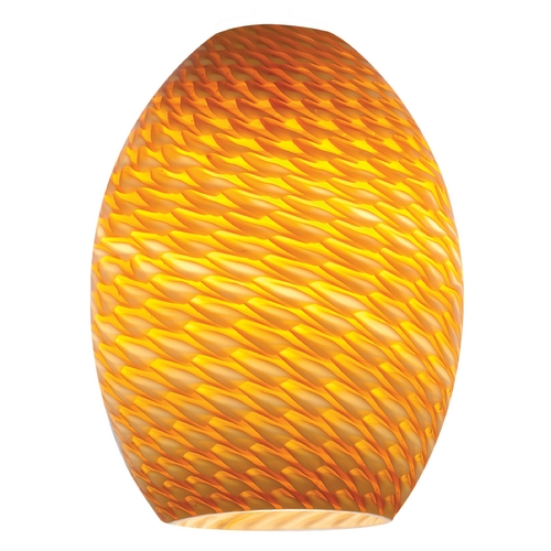 Access Lighting Firebird Ostrich Oblong Art Glass Shade - 1-5/8-Inch Fitter Opening 23123-AMBFB
