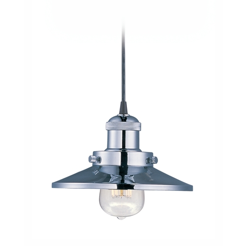 Maxim Lighting Maxim Lighting Mini Hi-Bay Satin Nickel Mini-Pendant Light with Coolie Shade 25020SN/BUI