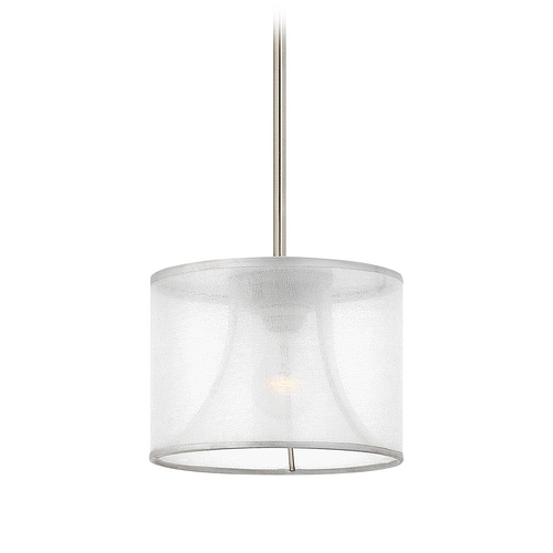 Frederick Ramond Modern Mini-Pendant Light with White Shade FR45607BNI