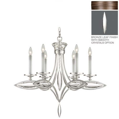 Fine Art Lamps Fine Art Lamps Marquise Antique Hand Rubbed Bronze Crystal Chandelier 843540-31ST
