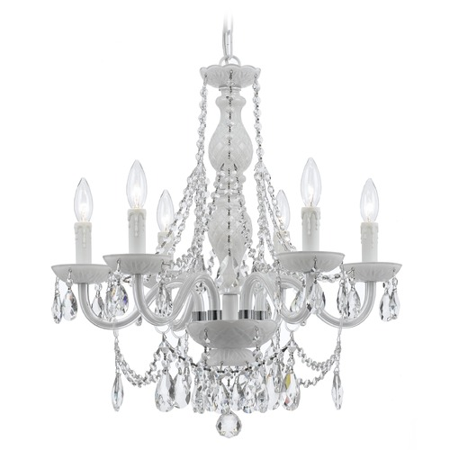 Crystorama Lighting Crystorama Lighting Envogue Wet White Crystal Chandelier 1076-WW-CL-S