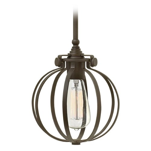 Hinkley Lighting Hinkley Lighting Congress Oil Rubbed Bronze Mini-Pendant Light 3111OZ
