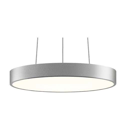 Sonneman Lighting Sonneman Pi Bright Satin Aluminum LED Pendant Light with Drum Shade 2740.16
