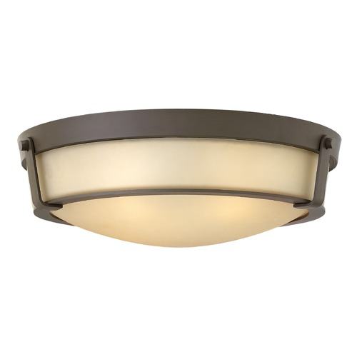 Hinkley Lighting Hinkley Lighting Hathaway Olde Bronze Flushmount Light 3226OB-GU24