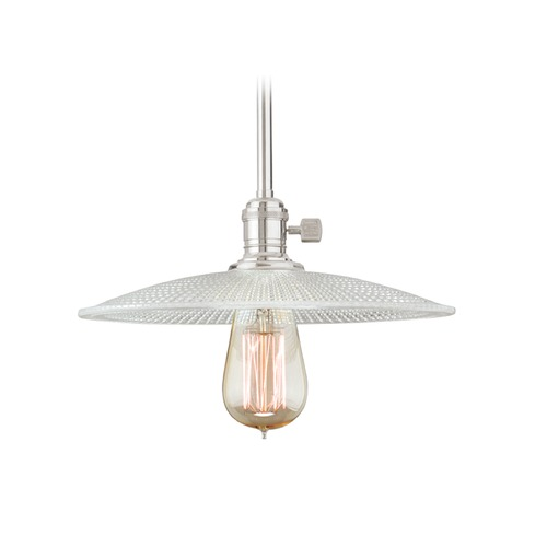 Hudson Valley Lighting Hudson Valley Lighting Heirloom Polished Nickel Pendant Light with Bowl / Dome Shade 9001-PN-GS4