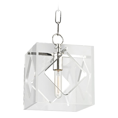 Hudson Valley Lighting Hudson Valley Lighting Travis Polished Nickel Mini-Pendant Light with Square Shade 5909-PN