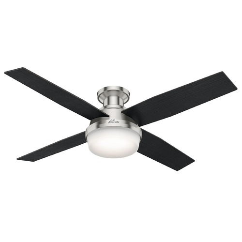Hunter Fan Company Hunter Fan Company Dempsey Brushed Nickel LED Ceiling Fan with Light 59241