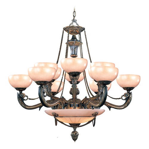 Crystorama Lighting Crystorama Lighting Hot Deal French White Chandeliers with Center Bowl 969-WH