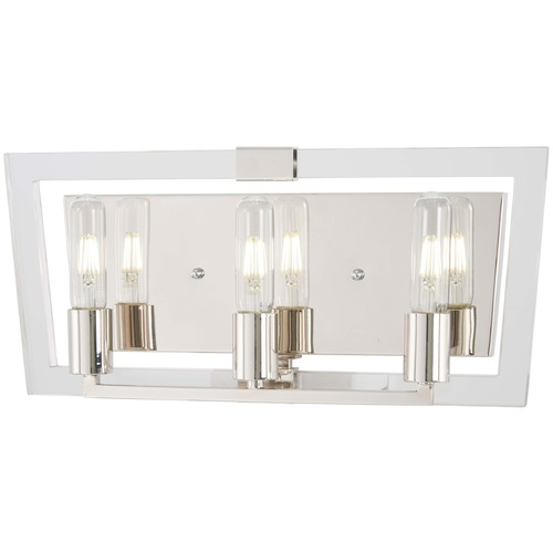 George Kovacs Lighting George Kovacs Crystal Chrome Polished Nickel Bathroom Light P1373-613