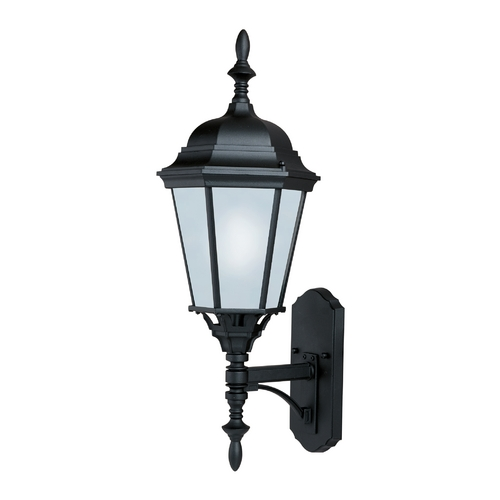 Maxim Lighting Outdoor Wall Light with White Glass in Black Finish 85103BK