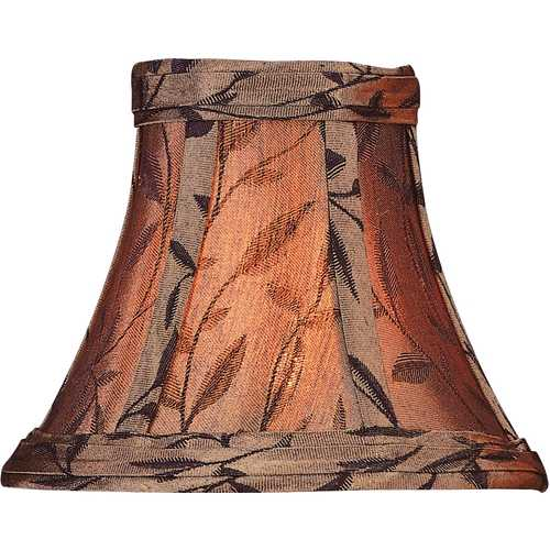 Lite Source Lighting Copper Jacquard Bell Lamp Shade with Clip-On Assembly CH515-6