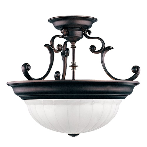 Dolan Designs Lighting Three-Light Semi-Flush Ceiling Light 525-30
