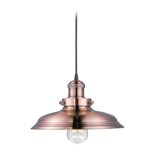 Maxim Lighting Maxim Lighting Mini Hi-Bay Antique Copper Pendant Light with Bowl / Dome Shade 25022ACP
