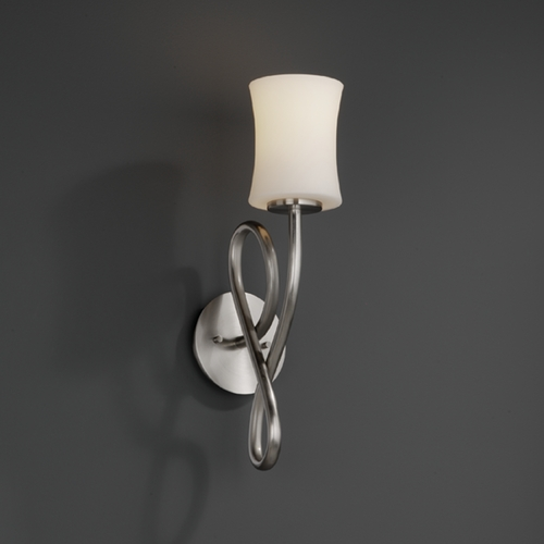 Justice Design Group Justice Design Group Fusion Collection Sconce FSN-8911-60-OPAL-NCKL