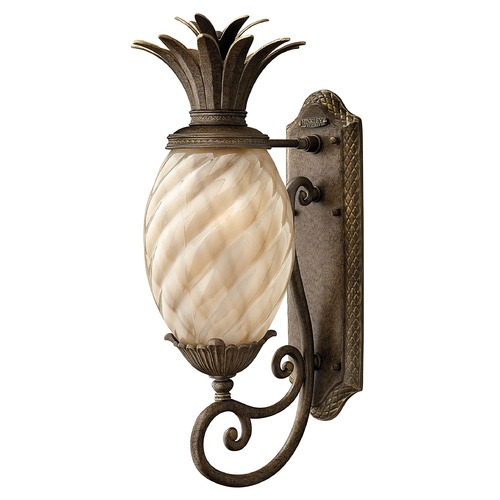 Hinkley 22-Inch Pearl Bronze Pineapple Outdoor Wall Light 2120PZ