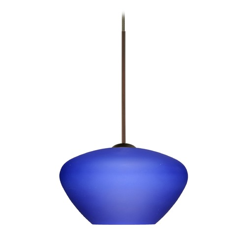 Besa Lighting Besa Lighting Peri Bronze LED Mini-Pendant Light with Bell Shade 1XT-541087-LED-BR