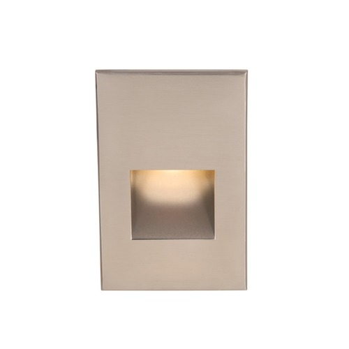 WAC Lighting WAC Lighting Ledme Brushed Nickel LED Recessed Step Light with Red LED WL-LED200F-RD-BN