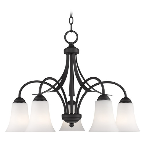 Livex Lighting Livex Lighting Ridgedale Black Chandelier 6476-04