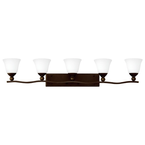 Hinkley Lighting Hinkley Lighting Bolla Olde Bronze Bathroom Light 5895OB-OPAL