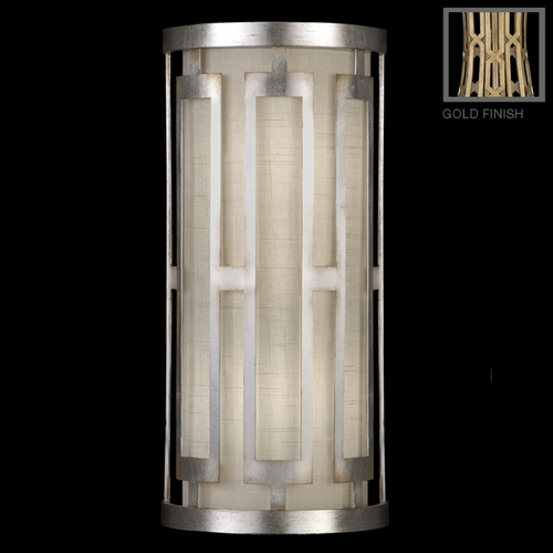 Fine Art Lamps Fine Art Lamps Allegretto Gold Burnished Gold Leaf with Subtle Brown Highlights Sconce 817150-2GU