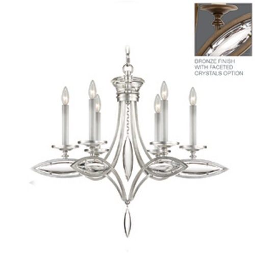Fine Art Lamps Fine Art Lamps Marquise Antique Hand Rubbed Bronze Crystal Chandelier 843540-32ST