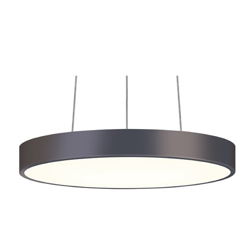 Sonneman Lighting Sonneman Pi Black Bronze LED Pendant Light with Drum Shade 2740.32