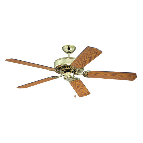 Craftmade Lighting Craftmade Pro Builder Polished Brass Ceiling Fan Without Light K11137