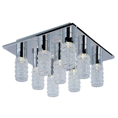 ET2 Lighting Polka 9-Light LED Flush Mount E20770-18PC