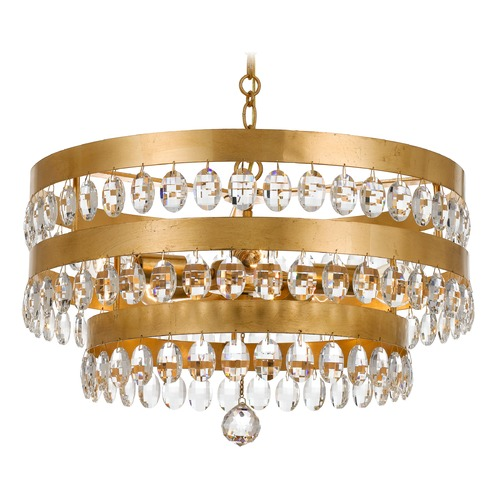 Crystorama Lighting Crystorama Lighting Perla Antique Gold Pendant Light 6106-GA
