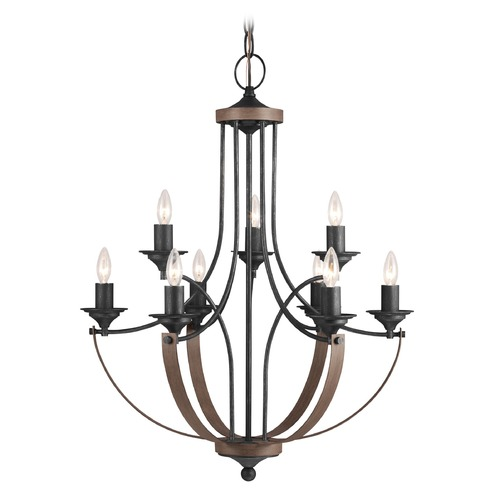 Sea Gull Lighting Sea Gull Lighting Corbeille Stardust / Cerused Oak LED Chandelier 3280409EN-846
