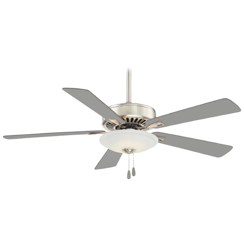 Minka Aire 52-Inch Minka Aire Polished Nickel LED Ceiling Fan with Light F656L-PN