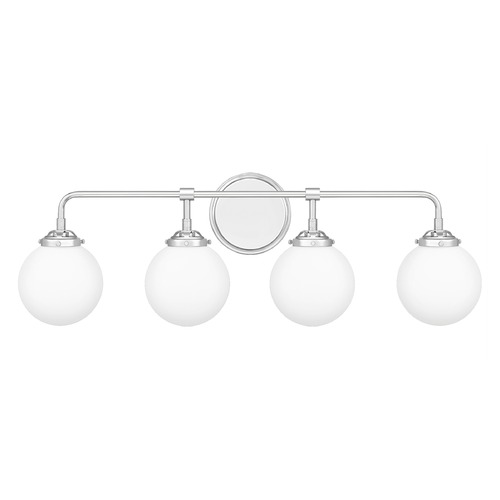 Quoizel Lighting Quoizel Lighting Landry Polished Chrome 4-Light Bathroom Light with Opal Glass LRY8632C