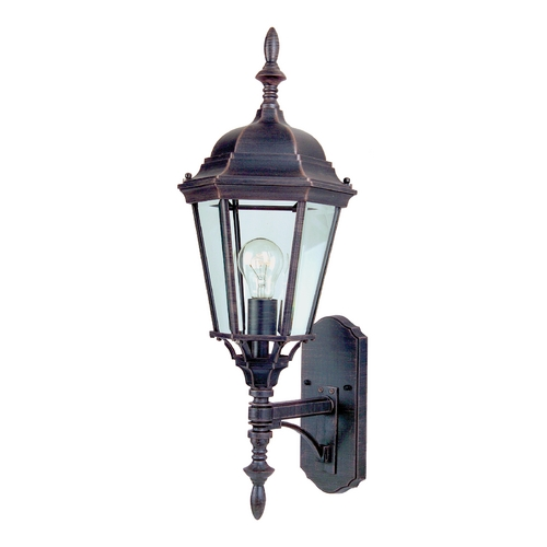 Maxim Lighting Outdoor Wall Light with White Glass in Rust Patina Finish 85103RP