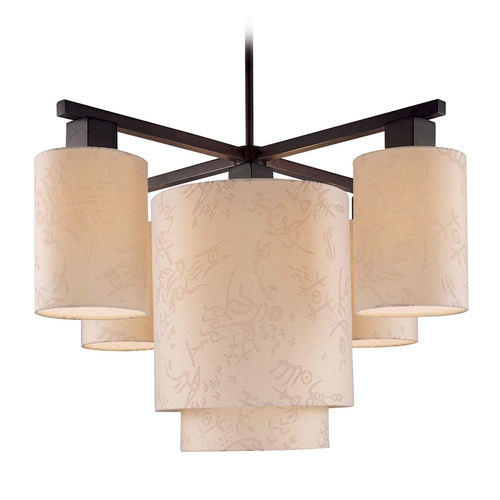 George Kovacs Lighting Modern Chandeliers in Antique Dorian Bronze Finish P8085-615