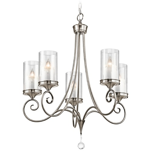 Kichler Lighting Kichler Chandelier with Clear Glass in Classic Pewter Finish 42861CLP