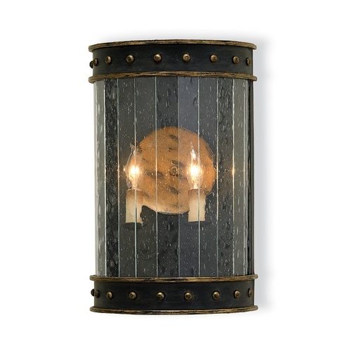 Currey and Company Lighting Plug-In Wall Lamp in Zanzibar Black/gold Finish 5031