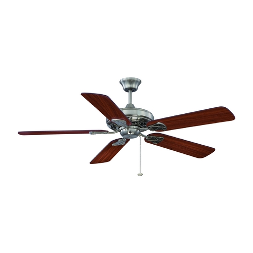 Craftmade Lighting Ceiling Fan Without Light in Brushed Nickel Finish MAJ52BNK5