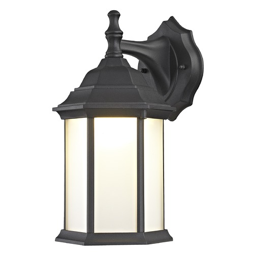 Design Classics Lighting Black LED Outdoor Wall Lantern 5204 BK 3000K/80CRI