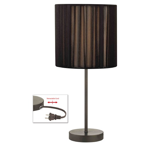 Design Classics Lighting Table Lamp with Black Shade in Bronze Finish 1904-604 SH9531