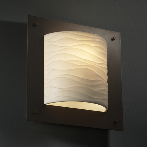Justice Design Group Justice Design Group Porcelina Collection Sconce PNA-5561-WAVE-DBRZ