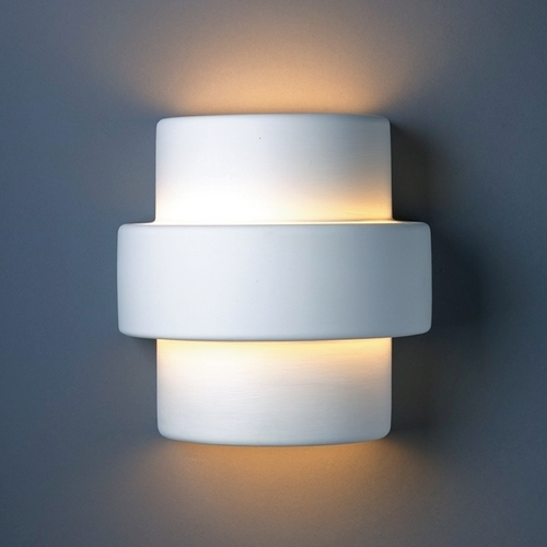 Justice Design Group Sconce Wall Light in Bisque Finish CER-2215-BIS