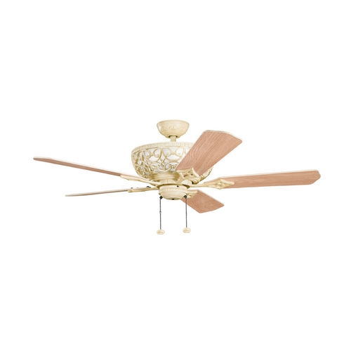 Kichler Lighting Kichler Lighting Cortez Aged White Ceiling Fan with Light 300113AW