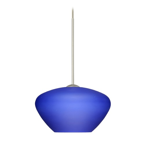 Besa Lighting Besa Lighting Peri Satin Nickel LED Mini-Pendant Light with Bell Shade 1XT-541087-LED-SN