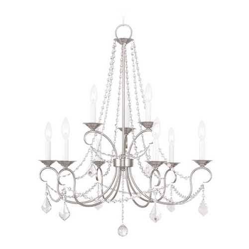 Livex Lighting Livex Lighting Pennington Brushed Nickel Crystal Chandelier 6519-91