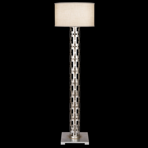 Fine Art Lamps Fine Art Lamps Allegretto Silver Platinized Silver Leaf with Subtle Brown Highlights Floor Lamp with 817020ST