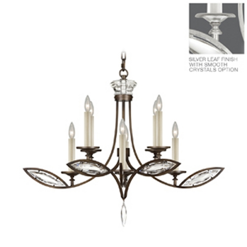 Fine Art Lamps Fine Art Lamps Marquise Platinized Silver Leaf Crystal Chandelier 843640-11ST