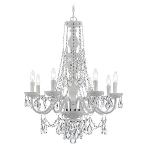 Crystorama Lighting Crystorama Lighting Envogue Wet White Crystal Chandelier 1078-WW-CL-S