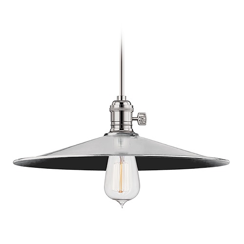 Hudson Valley Lighting Hudson Valley Lighting Heirloom Polished Nickel Pendant Light with Coolie Shade 9001-PN-MM1